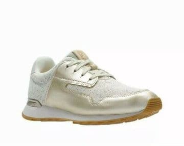 Clarks 'Floura Mix' Women's Sneakers/Trainers - Ivory Combi D