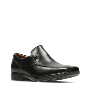Clarks 'Francis Flight' Men's Formal Loafers Shoes - Black Leather G