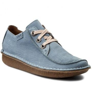 Clarks 'Funny Dream' Women's Casual Comfort Lace-up Shoe - Blue Grey D