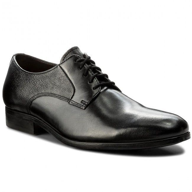 Clarks 'Gilmore Lace' Men's Formal Derby Shoes - Black Leather G