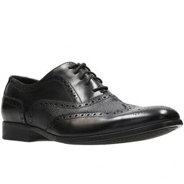 Clarks 'Gilmore Limit' Men's Brogue Shoes - Black Leather G