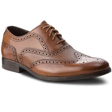 Clarks 'Gilmore Limit' Men's Lace-up Brogue Shoes - Tan Leather G