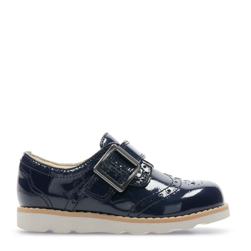Clarks Girls Shoes - Crown Pride Infant Navy Patent