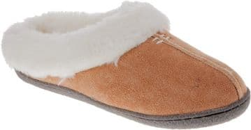 Clarks 'Home Classic' Women's Suede Mule Slippers - Tan D