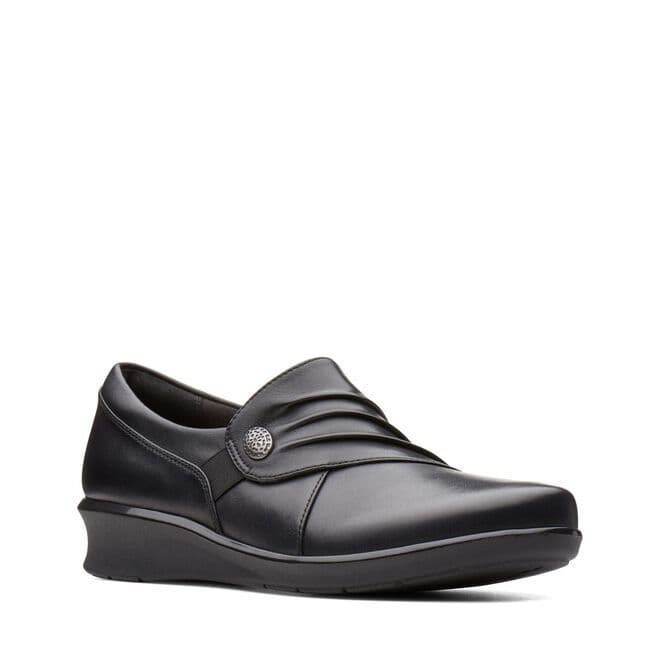 Clarks 'Hope Roxanne' Women's  Wide Fitting Trouser Shoe - Black Leather E