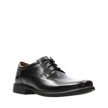 Clarks 'Huckley Spring' Men's Formal Shoes - Black Leather G