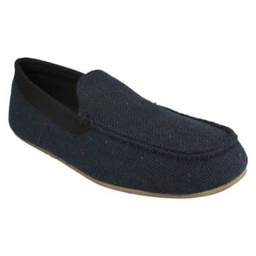 Clarks 'Interior Cheer' Men's Slippers - Navy G