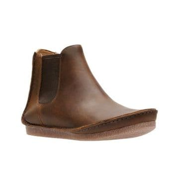 Clarks 'Janey Dee' Women's Casual Ankle Boots - Beeswax