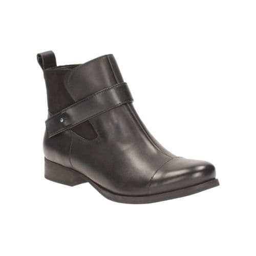 Clarks 'Ladbroke Magic' Women's Ankle Boots - Black Leather D
