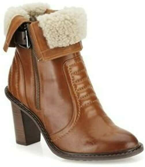 Clarks 'Lisette Blues' Women's Artisan Ankle Boots - Dark Tan Leather