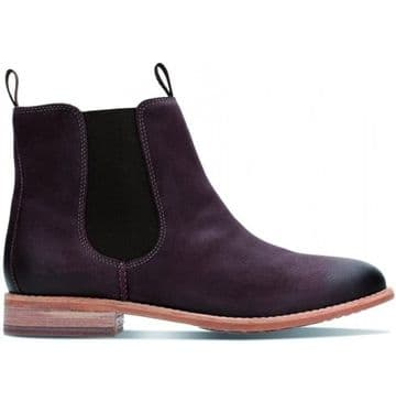 Clarks 'Maypearl Nala' Women's Chelsea Boots - Burgundy Leather D