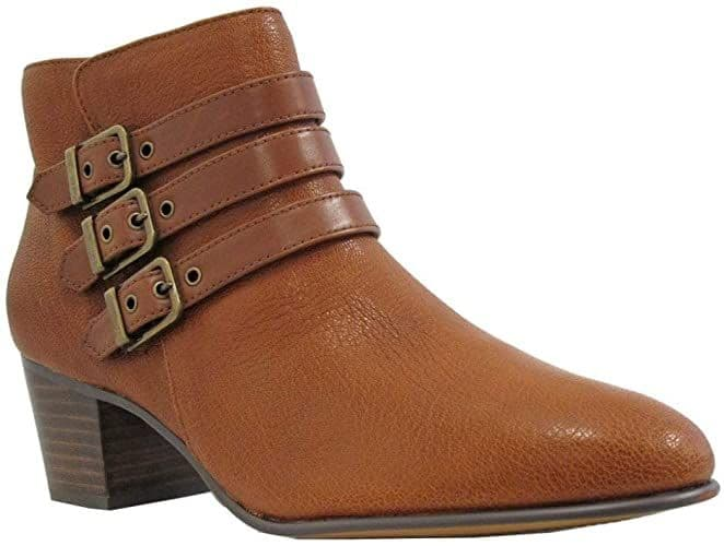 Clarks 'Maypearl Rayna' Women's Heeled Ankle Boots - Tan Leather D