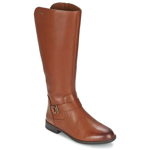 Clarks 'Mint Treat' Women's Long Waterproof Boots - Tan Leather D