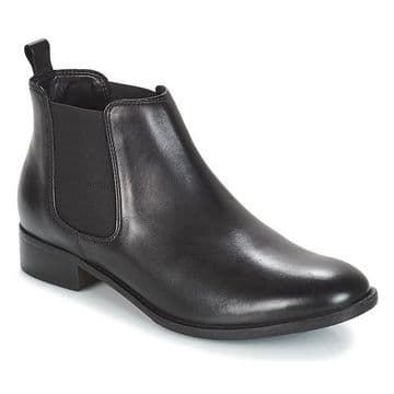 Clarks 'Netley Ella' Women's Ankle Boots - Black Leather D