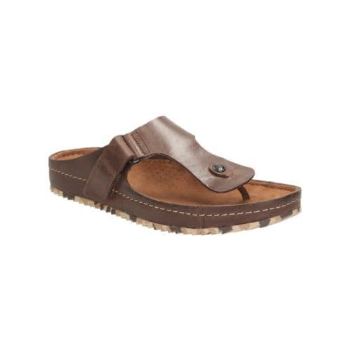 Clarks 'Netrix Post' Men's Toe Post Sandals - Brown Leather G