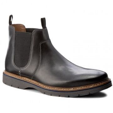 Clarks 'Newkirk Hill' Men's Wide Fitting Boots - Black Leather H