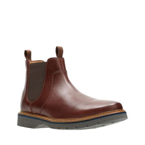 Clarks 'Newkirk Hill' Men's Wide Fitting Boots - Mahogany Leather H