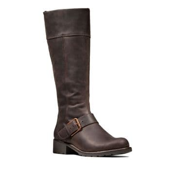 Clarks 'Orinoco Jazz' Women's Long Warmlined Boots - Dark Brown D