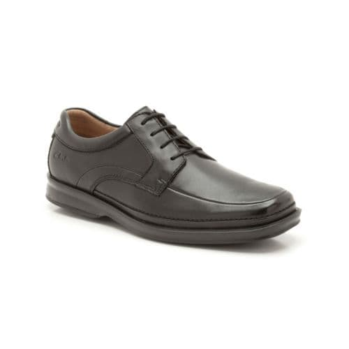 Clarks 'Scopic Way' Men's Wide Fitting Comfort Shoes - Black Leather H