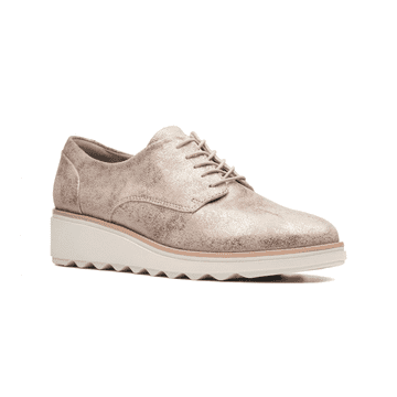 Clarks 'Sharon Crystal' Women's Lace-up shoes - Pewter D