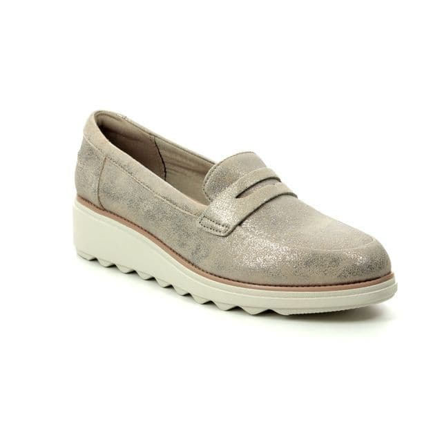 Clarks 'Sharon Ranch' Women's Loafer Shoes - Pewter D