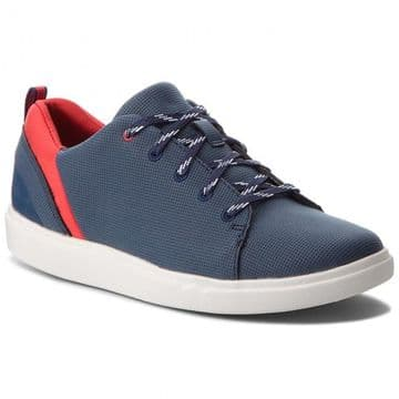 Clarks 'Step Verve Lo' Women's Eco-Leather Casual Shoes - Navy D