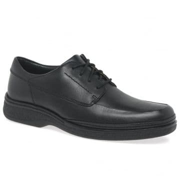 Clarks 'Stonehill Pace' Men's Wide Fitting Lace-up Formal Shoes - Black Leather H