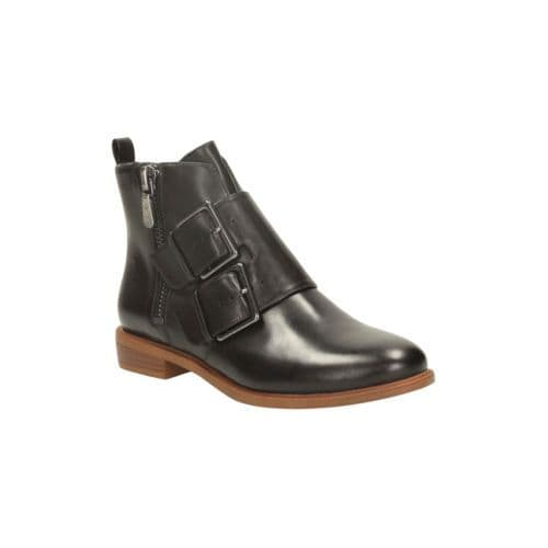 Clarks 'Taylor Storm' Women's Zip Ankle Boots - Black Leather D