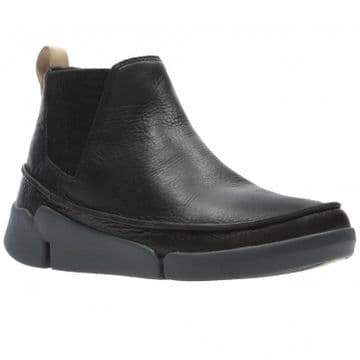 Clarks 'Tri Poppy' Women's Pull On Ankle Boots - Black Leather D