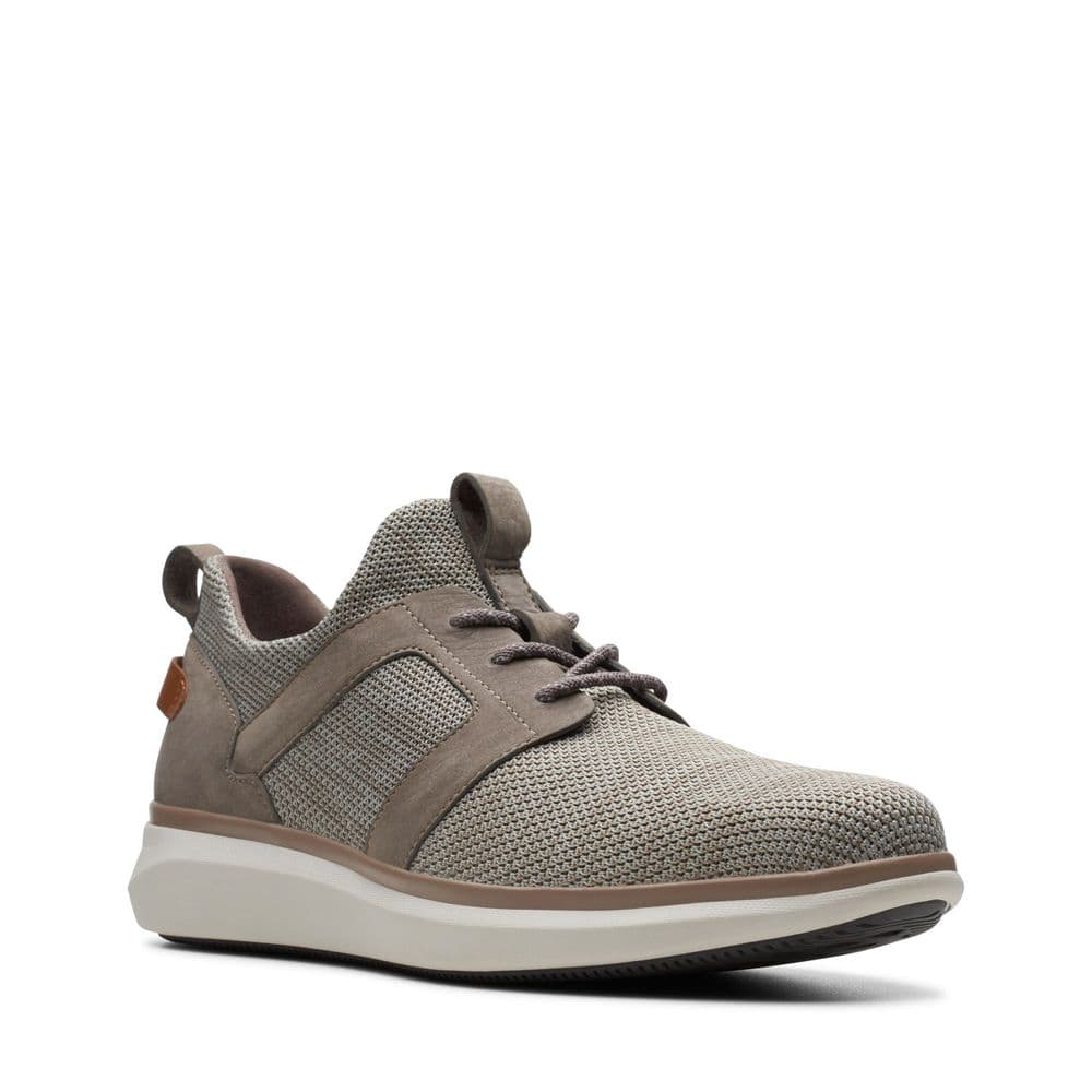 Clarks 'Un Globe Lace' Men's Unstructured Lightweight Trainers - Taupe Combi G