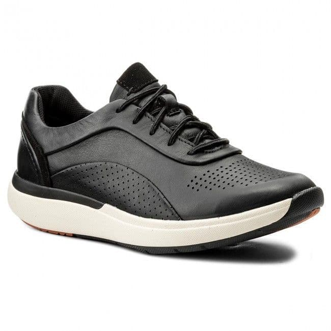 Clarks 'UnCruise Lace' Women's Trainer Shoes - Black Leather D