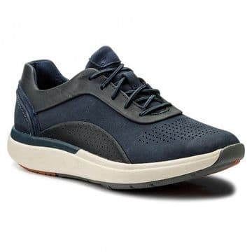 Clarks 'UnCruise Lace' Women's Trainer Shoes - Navy Combi D
