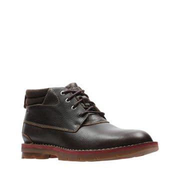 Clarks 'Varick Heal' Men's WarmLined Leather Boots - Brown G