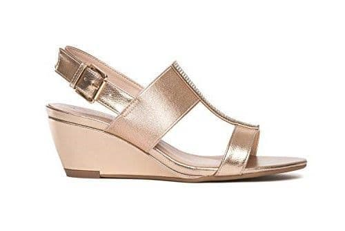 Comfort Plus Women's Wide Fitting Wedge Sandals - Katie Rose Gold