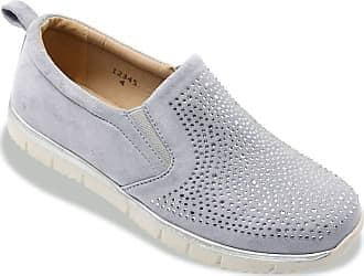 Dr Keller 'Louisa' Women's Slip-on Diamante Trainers - Grey