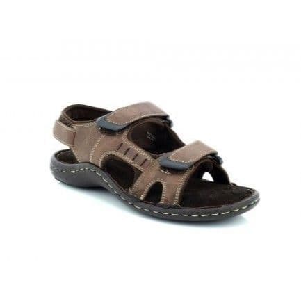 Dr Keller Men's Leather Sandal - Brett Brown