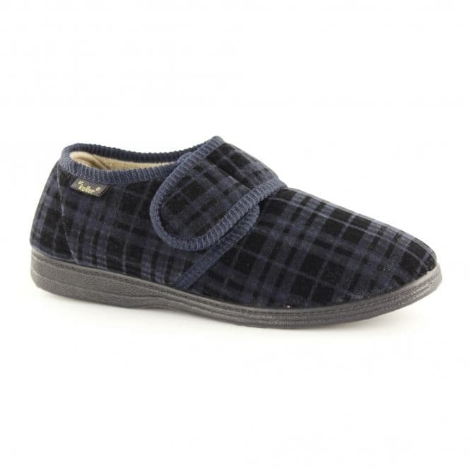 Dr Keller Mens Full Slippers - Dr Don Navy