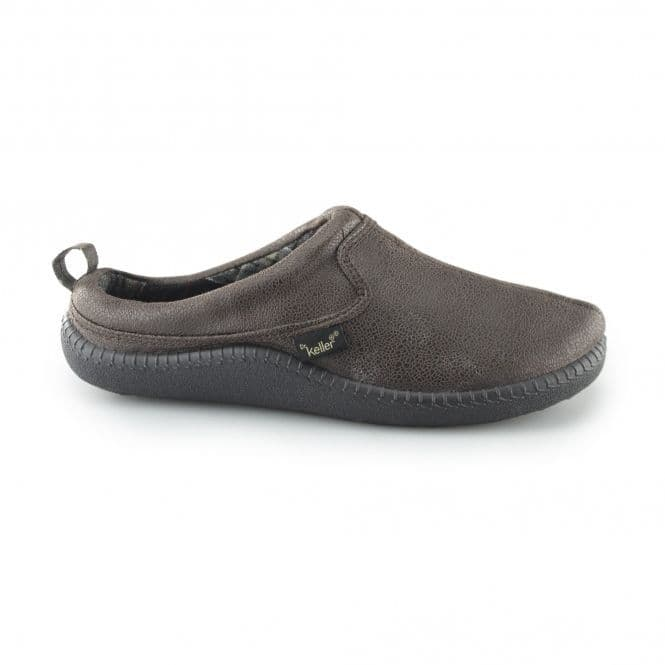 Dr Keller Mens Mule Slippers - Freddie Brown