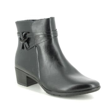 Heavenly Feet 'Annie' Women's Faux Leather Ankle Boots - Black