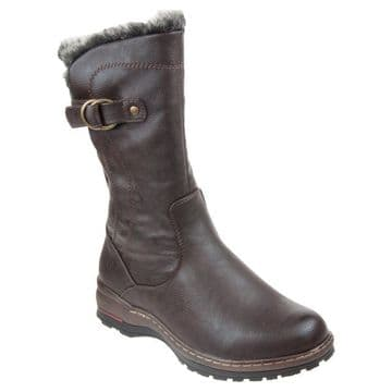Heavenly Feet 'Bramble' Women's Vegan Friendly Mid Calf Boots - Chocolate