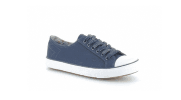 Heavenly Feet 'Brionne' Women's Canvas Pumps Shoe - Navy