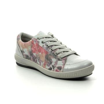 Heavenly Feet 'Cinnamon' Women's Lace-up Trainer - Silver Floral