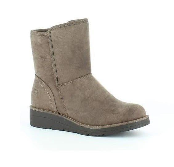 Heavenly Feet 'Lauren' Women's Casual Comfort Boots - Brown
