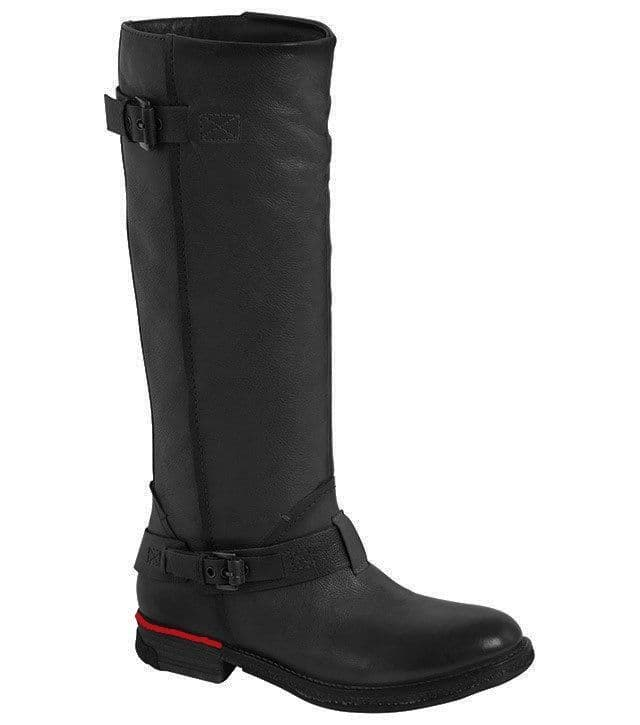 Heavenly Feet 'Prada' Women's Tall Leather Boots - Black