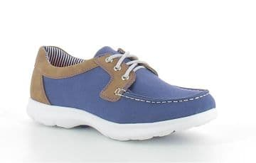 Heavenly Feet 'Rooster' Women's Deck/Boat Trainer/Shoe - Blue/Tan