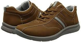 Hotter 'Apollo' Men's Lace Shoe - Tan Waxed Nubuck