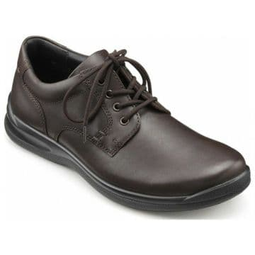 Hotter 'Burton' Men's Lace up Shoe - Dark Brown Leather