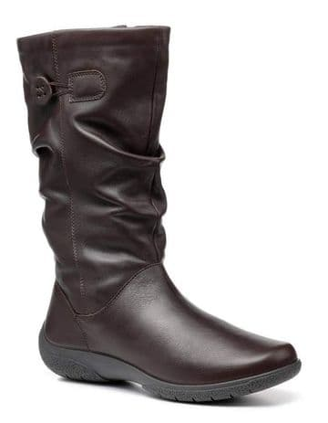 Hotter 'Derrymore' Women's Wider Calf Boots - Chocolate Leather EXF