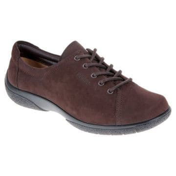 Hotter 'Dew' Women's Lace Shoe - Chocolate Nubuck EXF