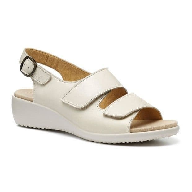 Hotter Easy II Women's Wide Fitting Sandal - Ivory Leather